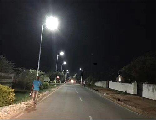 All in one solar street light in Ghana