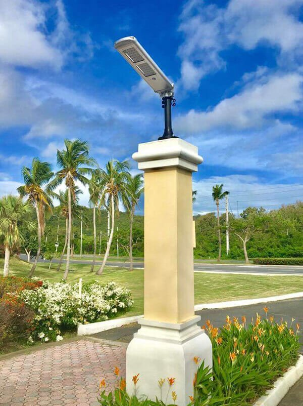 20W Solar Street Light Installed in Puerto Rico