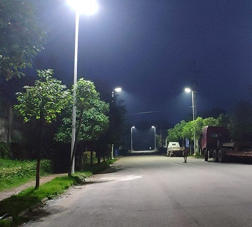 80W Solar Street Light Installed in China